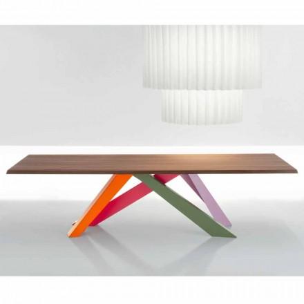 Bonaldo Big Table solid amerikansk valnød træbord lavet i Italien