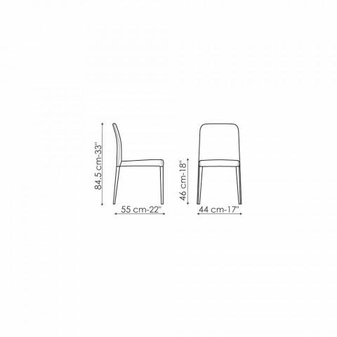 Bonaldo Deli designstol med polstret sæde lavet i Italien