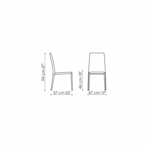 Bonaldo Eral moderne designstol betrukket med læder lavet i Italien