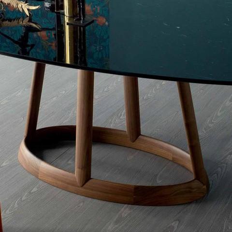 Bonaldo Greeny design ovalt bord i Marquinia marmor lavet i Italien