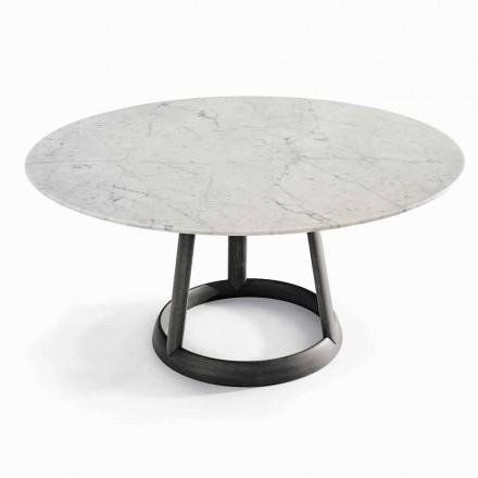 Bonaldo Greeny rundbordsdesign Carrara marmorgulv lavet i Italien