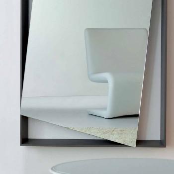 Bonaldo Hang spejl væglakeret trædesign H185cm lavet i Italien