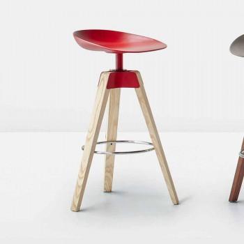 Bonaldo Plumage drejestol i stål og træ lavet i Italien