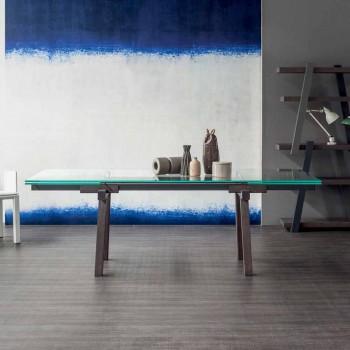 Bonaldo Tracks forlænges krystal spisebord lavet i Italien
