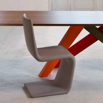Bonaldo Venere moderne designstol betrukket med læder lavet i Italien