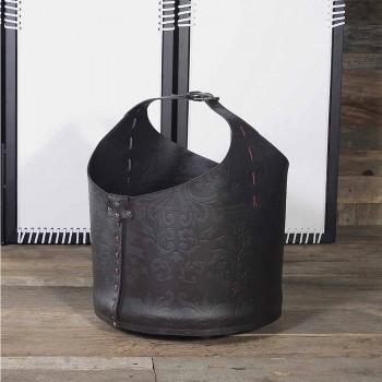 100% fremstillet i Italien Michelangelo læder log taske