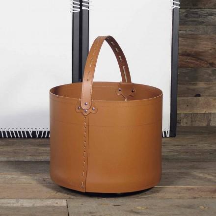 Log kurv Læder taske Milo 100% Made in Italy
