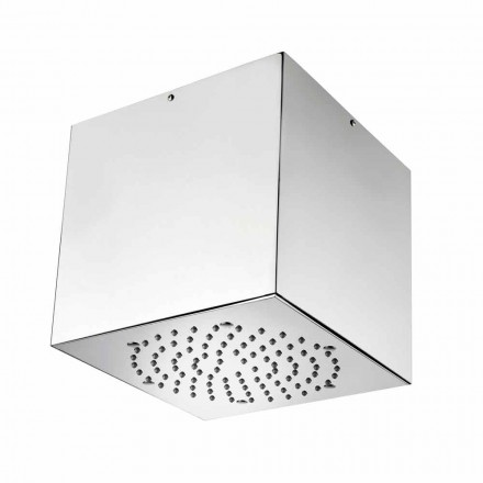 Bossini Cube brusehoved belagt stål til en moderne jet