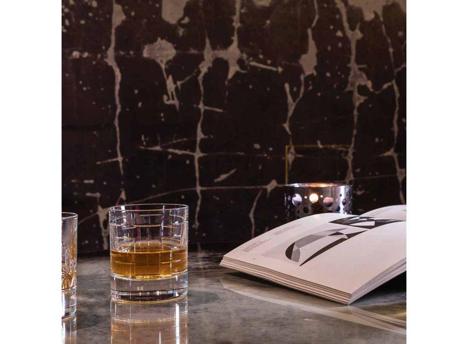 Flaske og briller til luksus whisky i økologisk krystal 6 stykker - arytmi