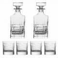 6-delt luksus økologisk krystal whiskyflaske og briller - arytmi