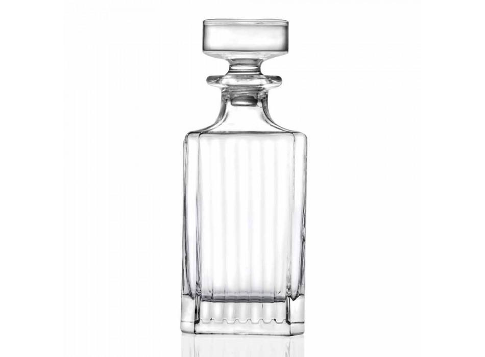 4-delt firkantet design Eco Crystal Whisky flasker - Senzatempo