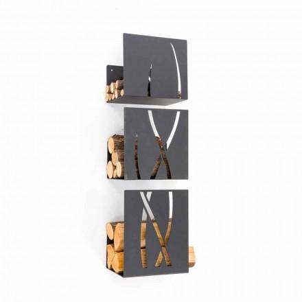 Caf Design Trio brænde indehaver af stål væg lavet i Italien