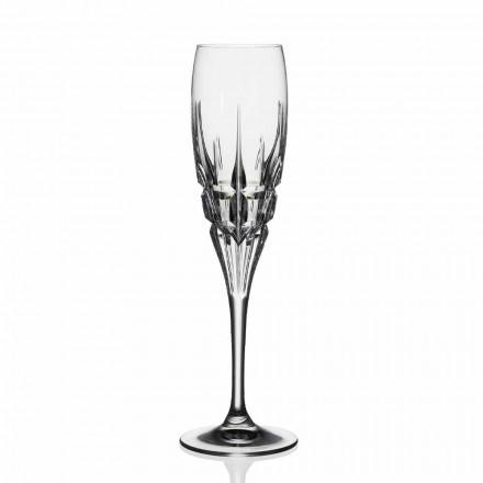 Krystalfløjteglas til champagne i økologisk krystal 12 stykker - Fiucco