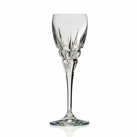 Glas til rødvin i økologisk krystal håndskåret 12 stykker - Fiucco