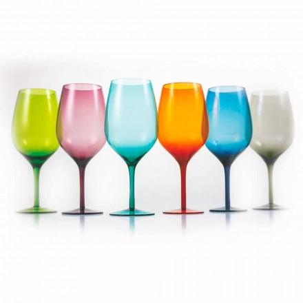 Hvide eller røde farvede vinglas i glas 3 varianter 12 stykker - Aperi