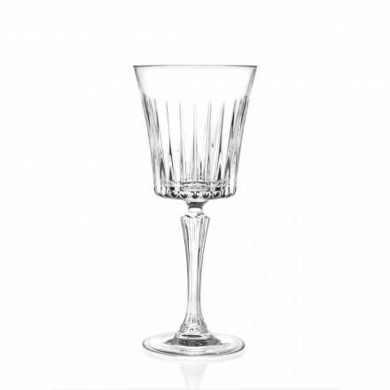 Luksus vin- og cocktailglasdesign i øko-krystal 12 stykker - Senzatempo