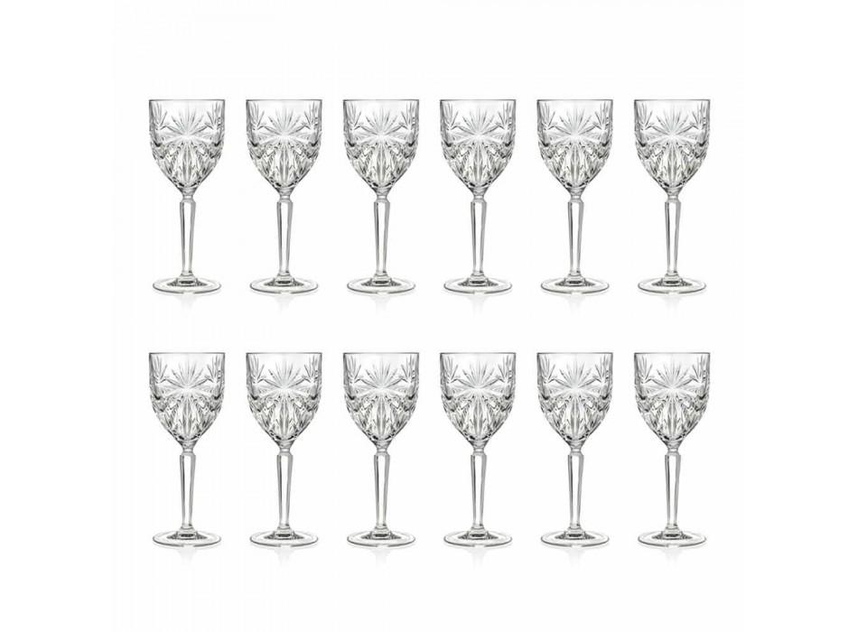 12 stykker økologisk krystalvin eller vandglas - Daniele