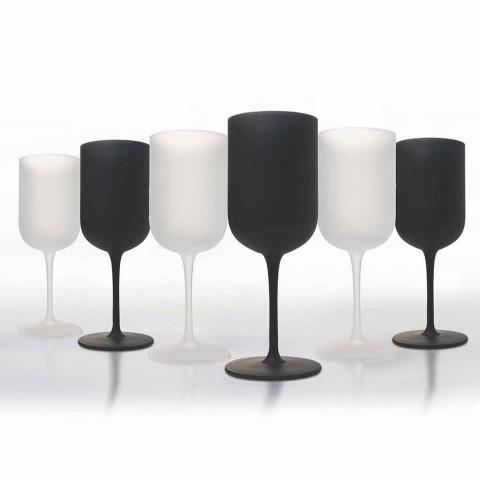 Bægre i frostet glas Hvid- og sortvinsservice 12 stykker - Norvegiomasai
