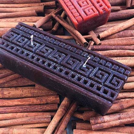 Håndlavet rektangulær kanelduftlys, fremstillet i Italien - Alissa