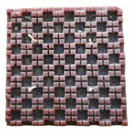 Kanel duftende vokslys med 4 væger fremstillet i Italien - Yuma