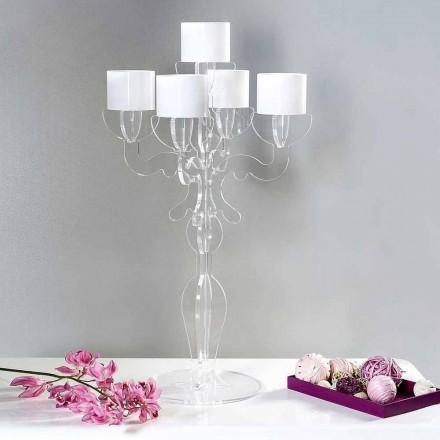 Reinassance lille design candleholder, 5 arme i plexiglas, Nulvi