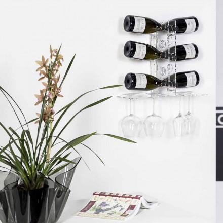 Kælder dør gennemsigtige flasker Luna væg, moderne design