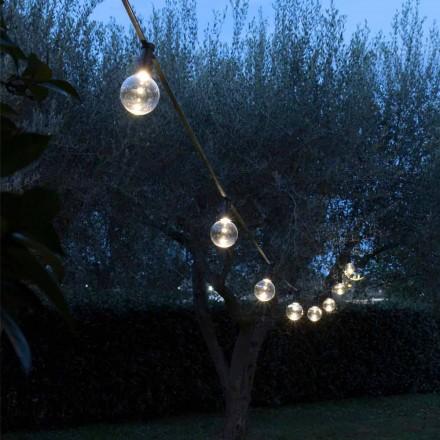 Neopren udendørs kabel med 8 LED-pærer inkluderet Made in Italy - Party