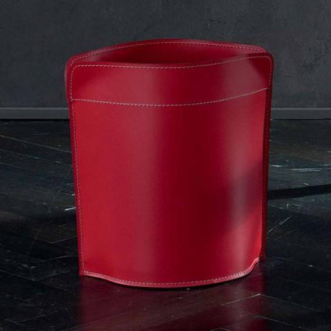 Affaldspapir kurv fremstillet i Italien i regenereret canistro læder
