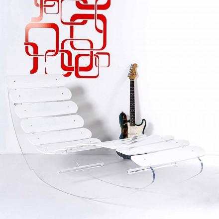 Chaiselong design plexiglas Josue fremstillet i Italien