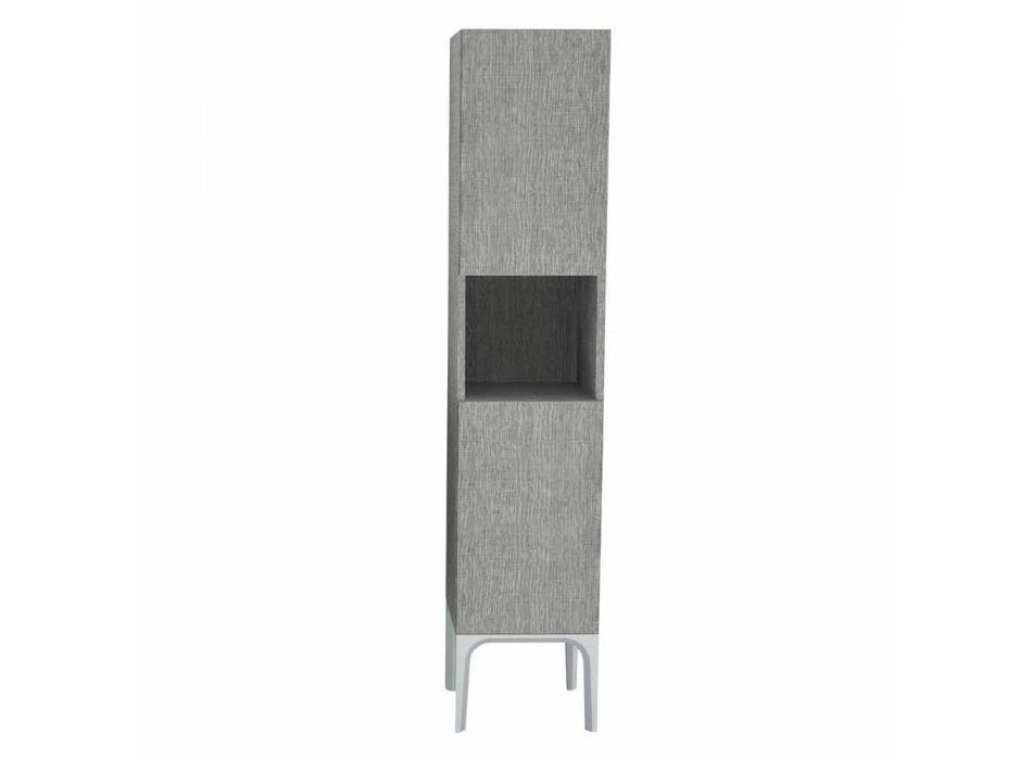 Badeværelsessøjle med 2 døre i moderne design øko-træ Ambra, fremstillet i Italien