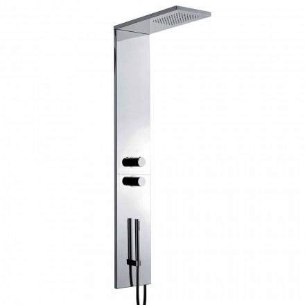 Termostatisk vægbrusersøjle i forkromet rustfrit stål Fremstillet i Italien - Pampo