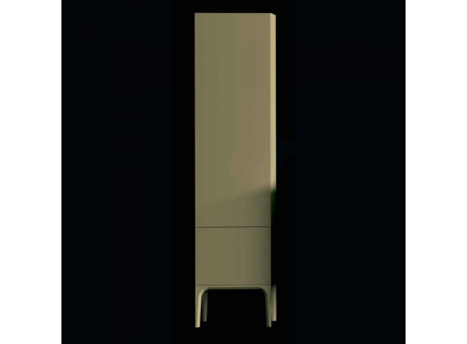 Amanda træ badeværelse skab med 2 døre, moderne design, lavet i Italien
