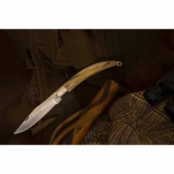 Antik håndlavet jagtkniv med stålblad fremstillet i Italien - Afri