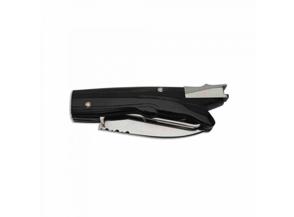 Antik jagtkniv med oksehornhåndtag fremstillet i Italien - antik