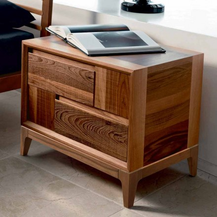 Dresser 2 træ skuffer moderne design massiv valnød, Nino