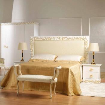 Bedside 2 træ skuffer med Kush guld dekorationer, lavet i Italien