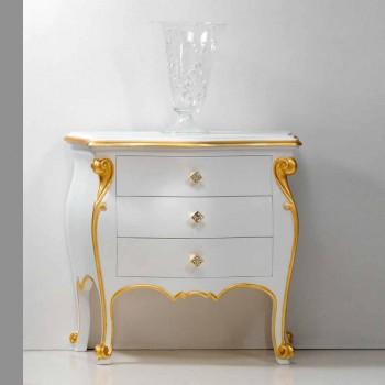 Bio bedside klassisk design med guld profiler, fremstillet i Italien