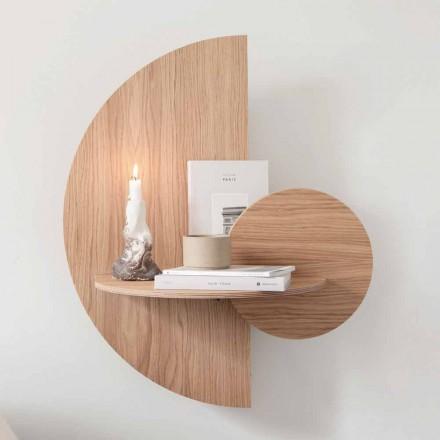 Design sengebord bestående af 3 modulpaneler i eg - Ramia krydsfiner