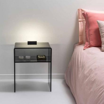røget seng med LED-lys lyser at Tocco Adelia, lavet i Italien