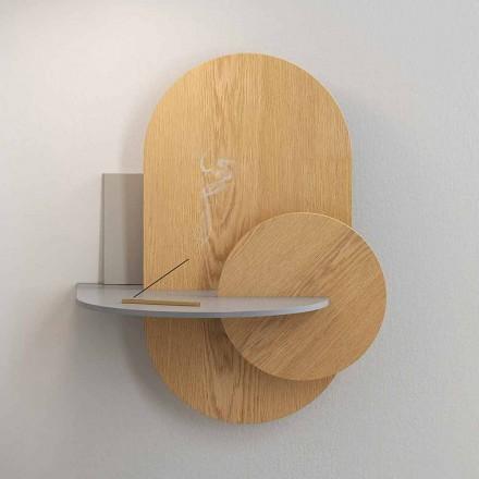 Sengebord i krydsfiner sammensat af 3 modulære paneler moderne design - Zita