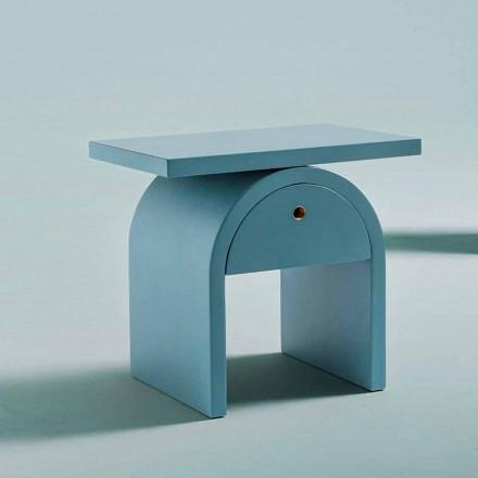 Sengebord i moderne design i farvet træ til soveværelset - Arcom