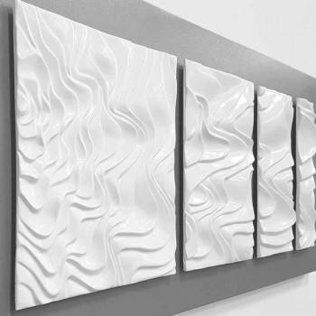 Vægkomposition af designdekoration i moderne abstrakt keramik - Verno