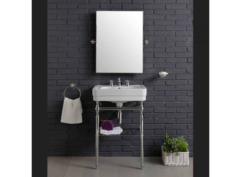 badeværelsesmøbler sammensætning med håndvask metal struktur Beauty