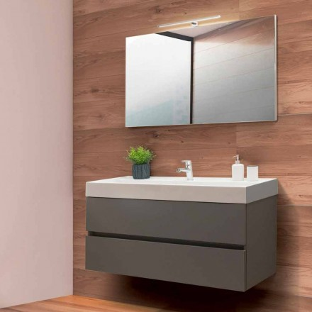Badeværelse Skab 120 cm, spejl og håndvask - Becky