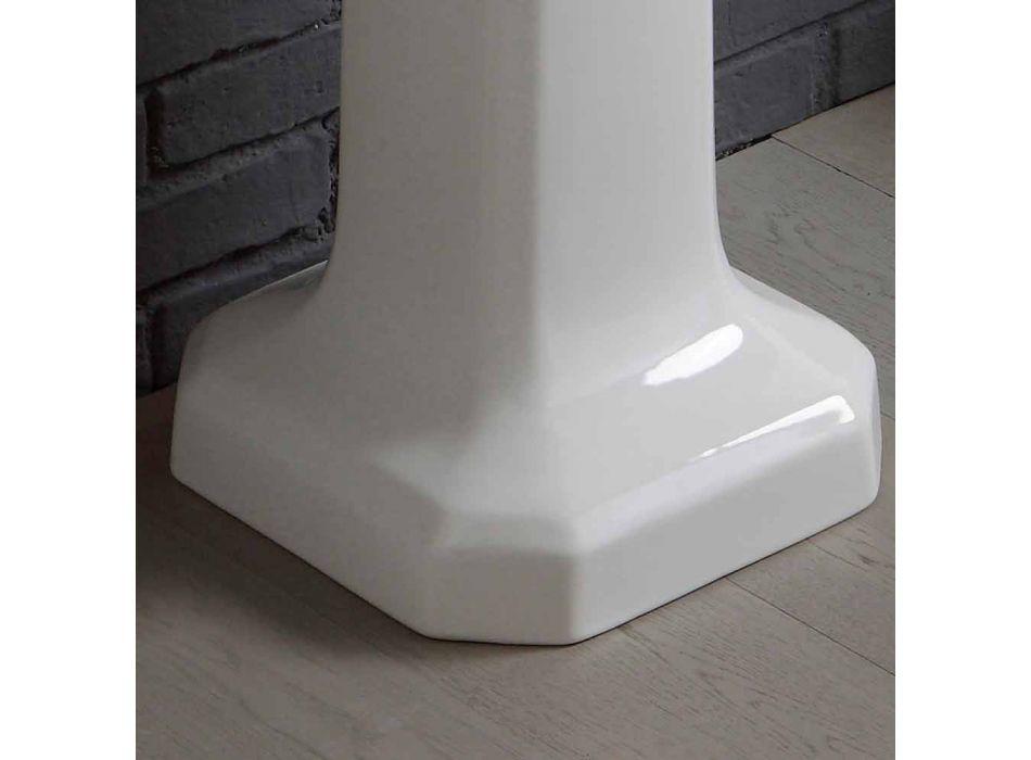 Badevaske sammensætning på Ania hvid keramik søjle