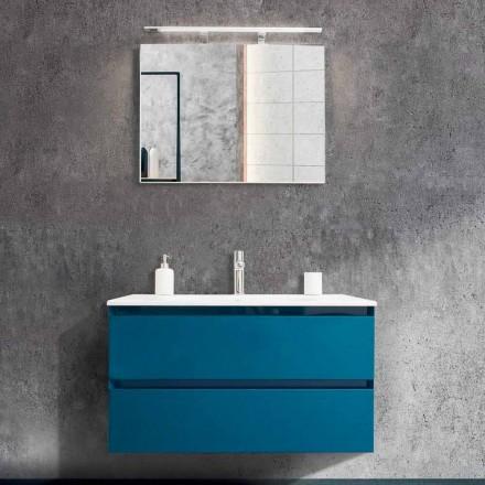 Badeværelse Skab 90 cm, moderne håndvask og spejl - Becky