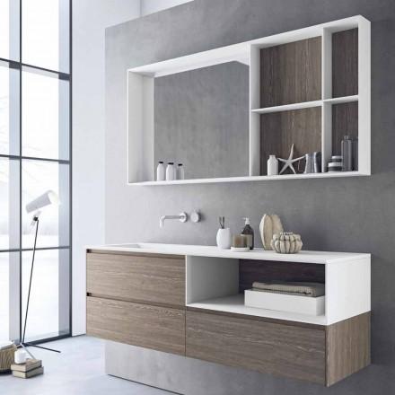 Badeværelsesmøbler sammensætning, moderne og suspenderet design lavet i Italien - Callisi8