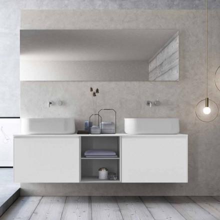 Moderne design Suspension Badeværelse sammensætning lavet i Italien - Callisi14