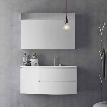 Moderne og ophængt badeværelseskomposition lavet i Italien Design - Callisi7