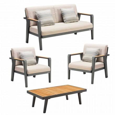Havekomposition 2-pers. Sofa, 2 lænestole og sofabord - Moira
